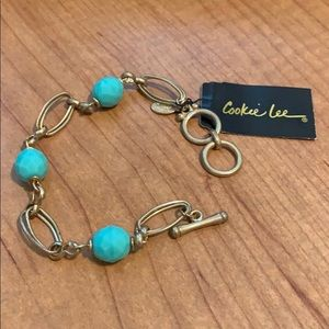 Cookie Lee Gold Bracelet and stones